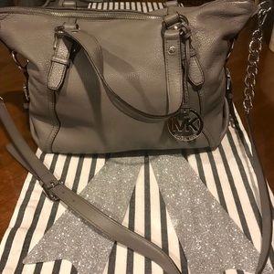 Micheal Kors Gray/Silver purse